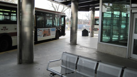Pape Station with Don Mills bus
